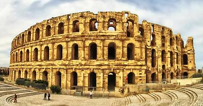 El Jem Colosseum Print by Dhouib Skander