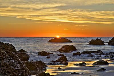 Photograph - El Matador Beach Sunset by Richard J Cassato