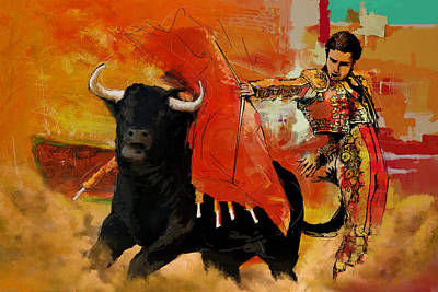 Torero Wall Art - Painting - El Matador by Corporate Art Task Force