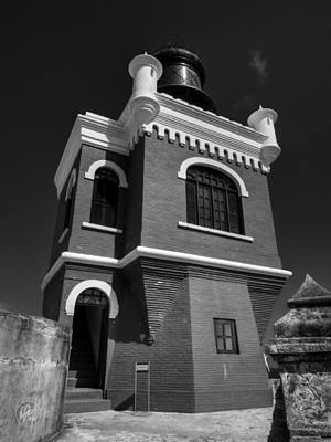 Castillo San Felipe Photograph - El Morro 002 Bw by Lance Vaughn