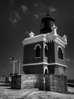 Castillo San Felipe Photograph - El Morro 003 Bw by Lance Vaughn