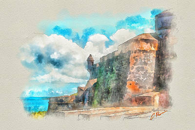 Painting - El Morro Castle.. by Charlie Roman
