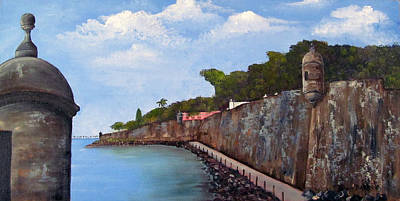 Old San Juan Painting - El Morro by Gloria E Barreto-Rodriguez