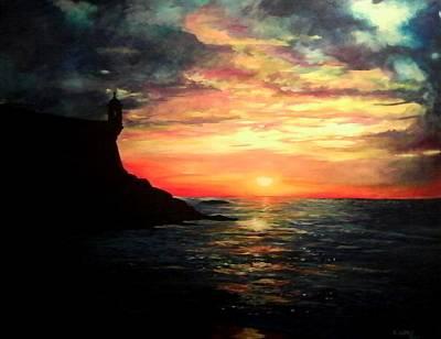 Puerto Rico Painting - El Morro San Juan Puerto Rico by Ramon Lopez Collazo