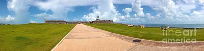 Fantasy Royalty-Free and Rights-Managed Images - El Morro walkway by Carey Chen