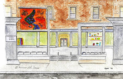 Painting - El Museo Del Barrio by AFineLyne