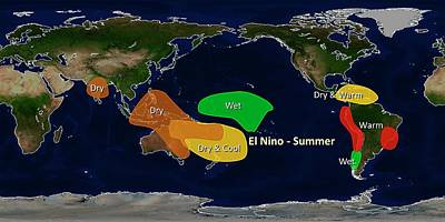 El Nino Summer Effects Art Print by Noaa