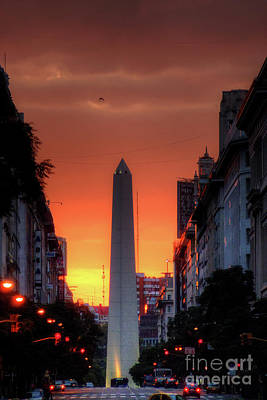 Photograph - El Obelisco Sunset by Deborah Smolinske