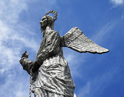 Photograph - El Panecillo Virgin Of Quito by Kurt Van Wagner