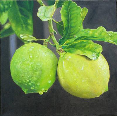 Lemon Drops Painting - El Par by Art Carrillo