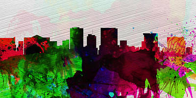 Horizon Painting - El Paseo City Skyline by Naxart Studio