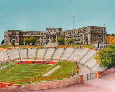 Movies Star Paintings - El Paso High School by Candy Mayer