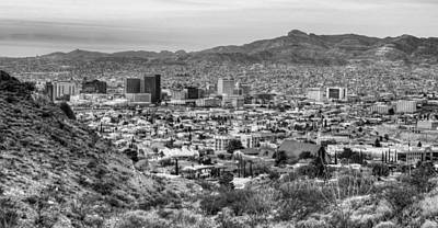 Photograph - El Paso In Black And White by JC Findley