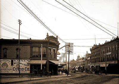 Texas Drawing - El Paso Street, El Paso, Texas, Streets, United States by Litz Collection