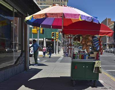 Photograph - El Paso Street Vendor by Allen Sheffield