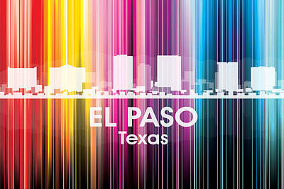 El Paso Tx 2 Art Print by Angelina Vick