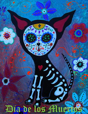 Painting - El Perrito Day Of The Dead by Pristine Cartera Turkus