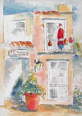 Painting - El Picaflor Gallery - Tlaquepaque by Pat Katz