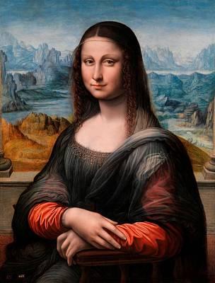 Painting - El Prado La Gioconda by Leonardo da Vinci