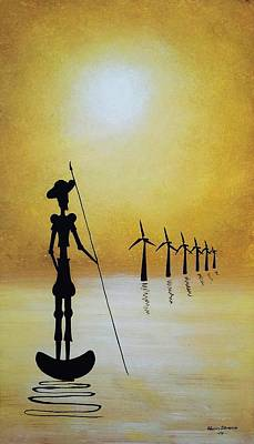 Don Quixote Fighting The Windmills Art Print