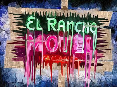 Route 66 Mixed Media - El Rancho Hotel Motel by Daniel Janda