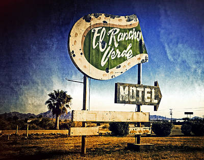 Photograph - El Rancho Verde Motel by Sandra Selle Rodriguez