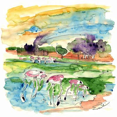 Flamingo Drawing - El Rocio 09 by Miki De Goodaboom