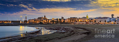 Photograph - El Rompidillo Beach Panorama Cadiz Spain by Pablo Avanzini