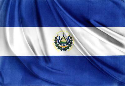 Ruffles Photograph - El Salvador Flag by Les Cunliffe