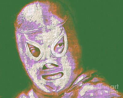 El Santo The Masked Wrestler 20130218v2m128 Art Print by Wingsdomain Art and Photography