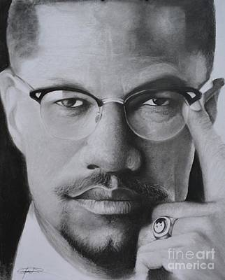 Drawing - El Shabazz For Print by Adrian Pickett