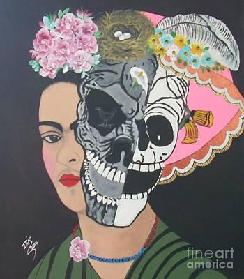 Painting - El Sufrimiento De Frida by Iris  Mora