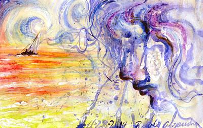 El Amor Painting - El Susurro Del Viento  by Ruben Santos