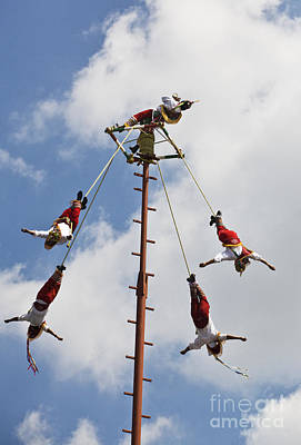Photograph - El Tajin Sky Dancers From Veracruz by Craig Lovell