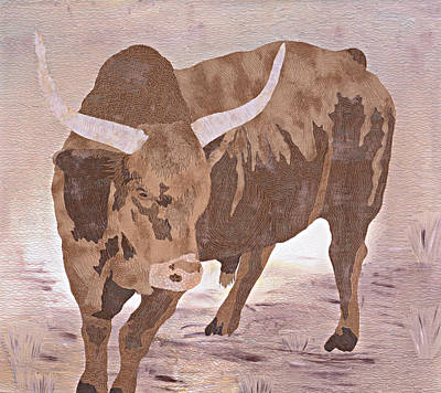 Tapestry - Textile - El Toro by Pauline Barrett