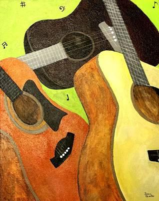 Painting - El Trio by Isaac Alcantar