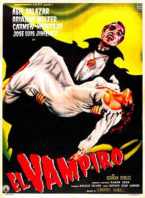 Horror Movies Photograph - El Vampiro, Spanish Language Poster by Everett