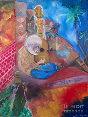 Latin Painting - El Viejo  by Luis Velez