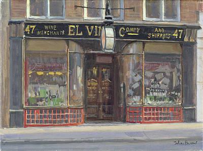 El Vinos, Fleet Street Oil On Canvas Art Print by Julian Barrow