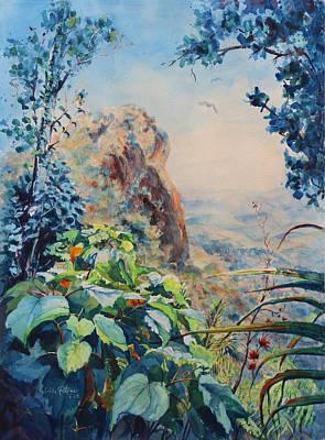 Puerto Rico Painting - El Yunque Rainforest Puerto Rico by Estela Robles Galiano