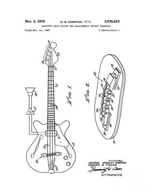 Electric Bass Guitar Patent Original