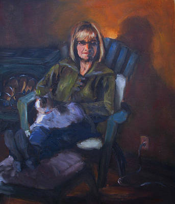 Painting - Elaine by Art Nomad Sandra  Hansen
