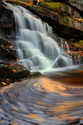 Photograph - Elakala Falls In Autumn In West Virginia by Jetson Nguyen