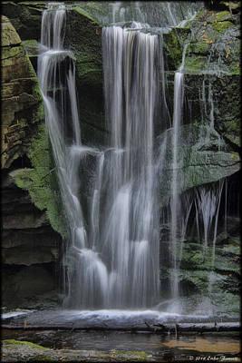 Photograph - Elakala Falls Watercolor by Erika Fawcett