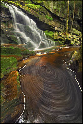 West Virginia Landscape Photograph - Elakala Swirls by Joseph Rossbach