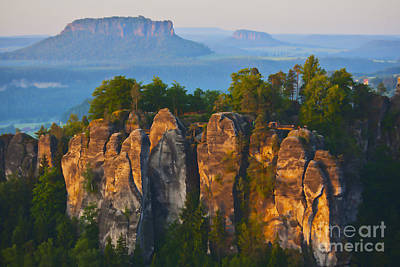 Natures Impressive Mountains Photograph - Elbe Sandstone Mountains by Heiko Koehrer-Wagner