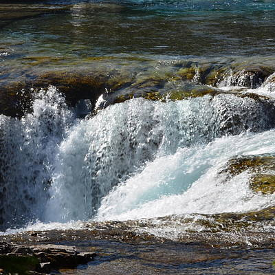 Photograph - Elbow Falls Water 1.2 by Cheryl Miller