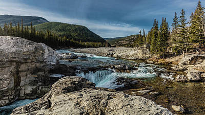 Using The River Photograph - Elbow Falls, Elbow River, Bragg Creek by Ron Harris