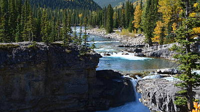 Photograph - Elbow Falls In Fall by Cheryl Miller