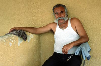 Elderly Man Relaxing Art Print